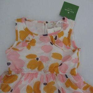 kate spade Dresses - Kate Spade Paint Daub Floral Ruffle Hem Dress 18m